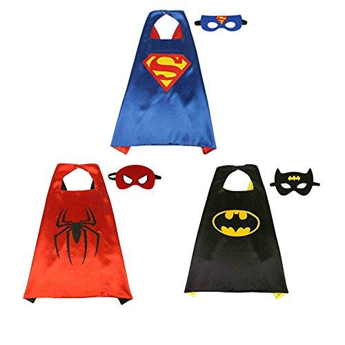 BJ-Shop Superhelden Umhang Maske, Superhelden Kostüm Kinder die Mantel Jungen und Mädchen Superheld Spielwaren für Geburtstag und Kinderkostüm Partei ()