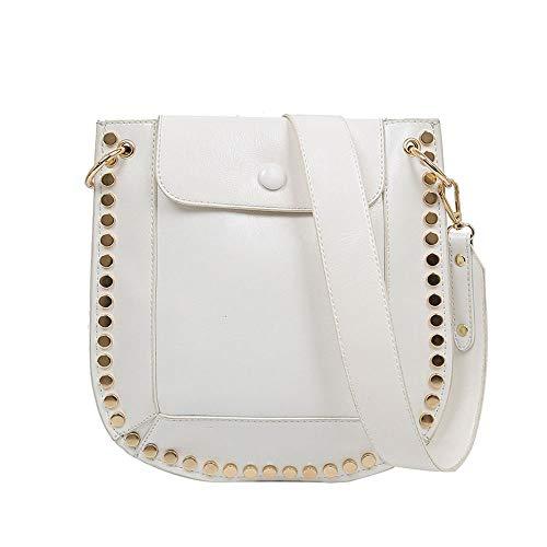 BXW Damen Handtasche Niete breite Schulter Gurt Sling Satteltasche kann An Ihre Frau und Tochter gegeben Werden (Handtasche Sling Patch)