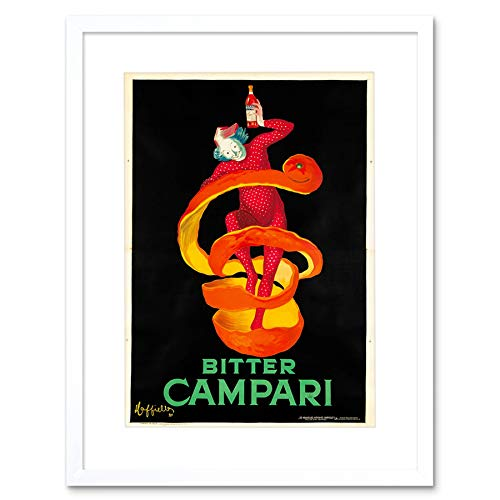 The Art Stop AD Drink BITTER Campari 1921 Wood Frame Picture Poster Gift F12X138 - 1921 Poster