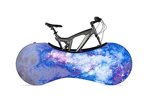 velosock Bicicletta Indoor, Portaoggetti, Galaxy, soluzione migliore per mantenere i pavimenti e pareti pulizia, compatibile con il 99% di tutti gli adulti biciclette-Spedizione gratuita nel Regno Unito