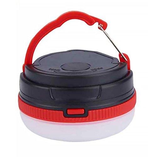 Campinglampe Zeltlampe Tragbare Camping Gear USB Wiederaufladbare Solar Lantern 3 Modi Faltbare LED Camping Laterne Notlicht Ultra Bright LED Zelt Licht für Wandern Notfälle Hurrikan Ausfälle Rot