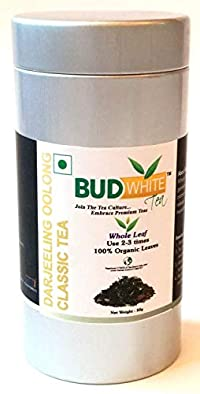 Budwhite Darjeeling Oolong Classic Tea, 50g Tin for Slimming, Weight Reduction