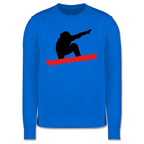 Wintersport - Snowboard Abfahrt Planke - Herren Premium Pullover Himmelblau