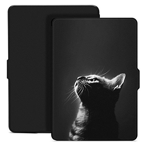 Ayotu Hülle für Kindle Paperwhite-Case Cover Mit Auto Schlaf/Wach für Amazon Paperwhite 2012/2013/2016/2015 3.Generation(Nicht geeignet für Das Modell der 10. Generation 2018),Katzenmodell