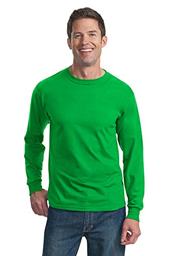 Fruit of the Loom Logotastic Unisex-Adult Rmk Hd Cotton 100% Cotton Long Sleeve T-Shirt - Ash* - (case Pack of 12), Kelly, 3X-Large