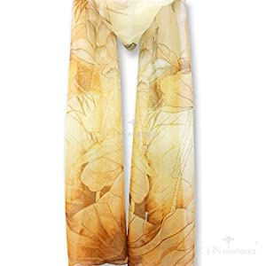LS-9-Top Quality Silky Feeling Tulle Scarf Veil With Beautiful Oriental Design On-lotus#3