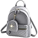 Sk Noor Women's Girls Fashion PU Leather Mini Casual Backpack Bags For School, College, Tuition, office With Small Pocket Key