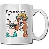 Cartoon Cat Dog Puppy Migliori idee regalo per la festa del papà per tazze da caffè Divertente regalo di Natale Mug Personalità Drink Cup (330 ML)