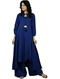 Women Palazzo Pants With Kurti, Women Palazo Suit, Cotton Kurti For Womens