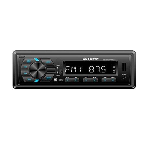 New Majestic SD-238 Noir récepteur multimédia de Voiture - Récepteurs multimédias de Voiture (FM,PLL, Noir, SD, MP3,WMA)