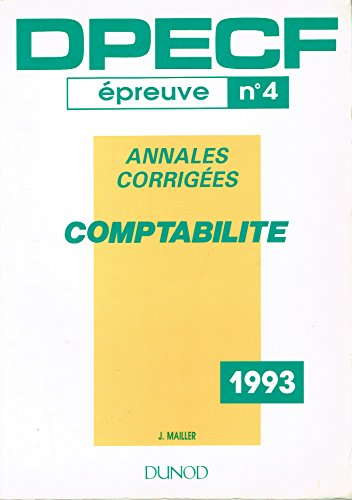 Dpecf 4/93 Comptabilite