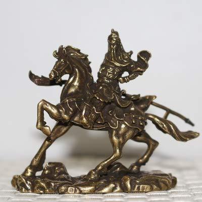 WYDZSM Kupferne Ornamente Öffnen, Glück, Guan Gong, Kleine Bronze, Reiten, Guan Gong, Bronzestatue, Antiker Abguss, Tischdekoration, Sammlung
