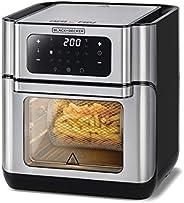 Black+Decker Digital Air Fryer Oven, 12L, Silver - AOF100-B5, 2 Year Warranty