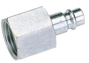 """1/2 """"BSP femelle écrou PCL EURO Adaptateur d'attelage (Vendu en vrac)-lourds droits des applications haut débit jusqu'à plus de 1 million de cycles se branche sur la plupart des profils et adaptateur européen (Cejn du Rectus etc.) améliorant fortement Passivation Zinc pour une Meilleure résistance à la corrosion et résistant en acier vendus courroie."""