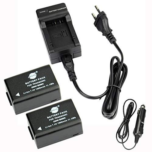 DSTE®(2 Pack)Ersatz Batterie und DC108E Reise Ladegerät Compatible für Panasonic DMW-BMB9 Lumix DMC-FZ45 DMC-FZ47 DMC-FZ48 DMC-FZ60 DMC-FZ62 DMC-FZ70 DMC-FZ72 DMC-FZ100 DMC-FZ150 DC-FZ80 V-Lux2 V-Lux3