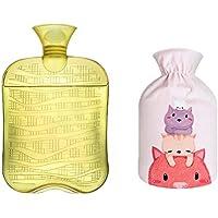 1800ML Klassisch PVC Kalt oder Heiße Wasserflasche mit weichem Plüschbezug, 10 preisvergleich bei billige-tabletten.eu