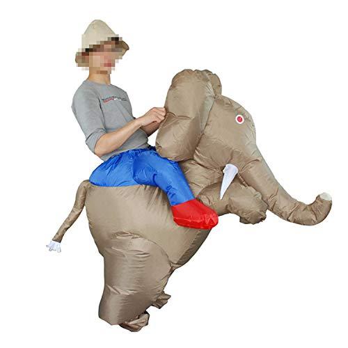 LOVEPET Erwachsener Karikatur-Elefant Aufgeblähte Kleidungs-Tierrückseiten-aufblasbare Kleidungs-Halloween-Partei, Lustige Stützen-jährliche - Für Erwachsener Elefant Kostüm