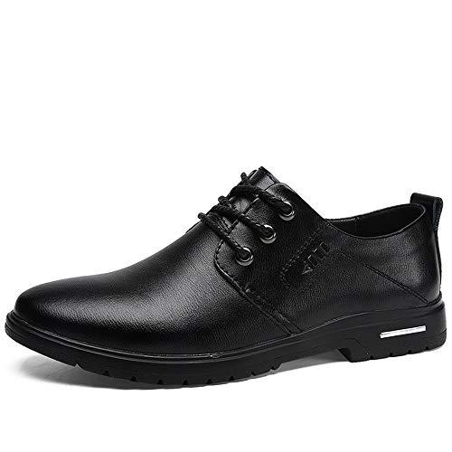 Jingkeke Herren Schnürschuhe Formelle Halbschuhe for Herren Runde Zehen Wanderschuhe Loafer Schuhe aus weichem, mattem Kunstleder mit Gummifußsohle Ins Auge fallend Mode -
