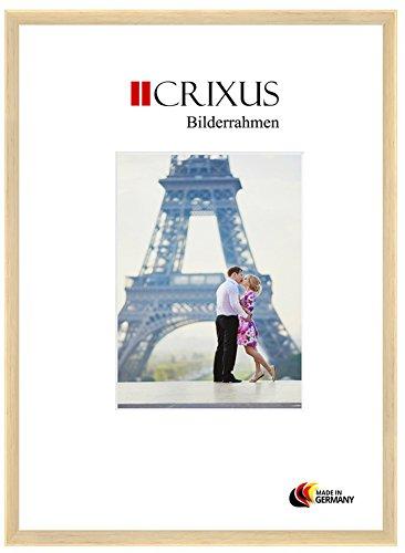 Crixus23 Echtholz Bilderrahmen für 60 x 90 cm Bilder, Farbe: Natur, Massivholz Rahmen in Maßanfertigung mit Acryl Kunstglas (Bruchsicher) und MDF Rückwand, Rahmen Breite: 23mm, Aussenmaß: 63,4 x 93,4 cm