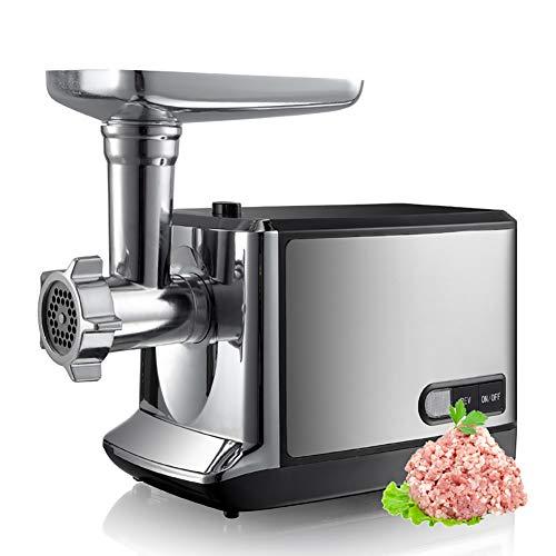 ZDYLM-Y Elektrischer Fleischwolf Multifunktional Edelstahl Schwer Haushalt Wurstmaschine mit 2 Edelstahlklingen