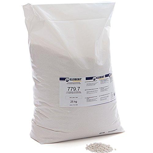 25-kg-Sack weiss Schmelzkleber Granulat KLEIBERIT 779.7 EVA Schmelzklebstoff zum Kanten leimen Möbelkanten Umleimer
