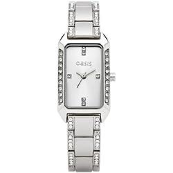 Oasis Damen-Armbanduhr Analog silber B1174