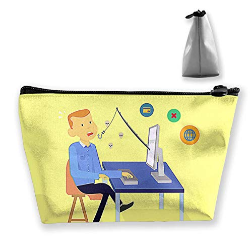 Internet Phishing Womens Travel Cosmetic Bag Portable Toiletry Brush Storage Multifunctional Pen Pencil Bags Accessories Sewing Kit Pouch Makeup Carry Case