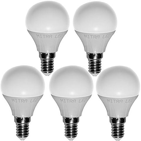 E27E14GU10LED blanco cálido 4050W Bombilla para 5001075lúmenes 67gota de 12W Reflector Bombilla de bajo consumo Mini 5unidades, E27, 6.03 wattsW, 220.00 voltsV