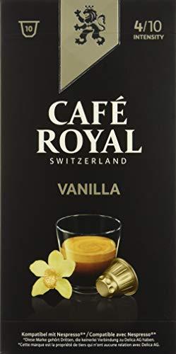 Café Royal Flavoured Edition Vanilla 100 cápsulas compatibles con Nespresso, Intensidad: 4 de 10 (Pack de 10 x 10 cápsulas)