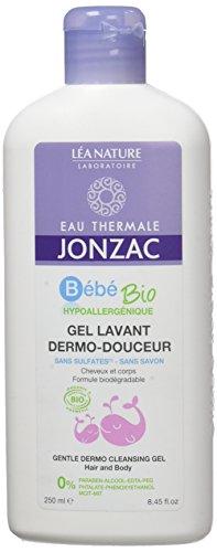 EAU THERMALE JONZAC Gel Lavant Dermo-Douceur Bébé 250 ml - Lot de 4