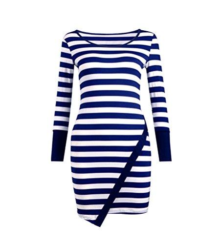 SunIfSnow - Robe spécial grossesse - Uni - Manches Longues - Femme Bleu