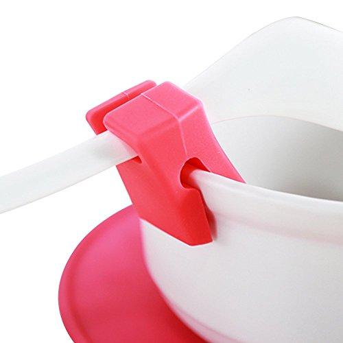 ? Go Löffel Pot Clip & # 153;? ~ 2Packungen ~ Universal Super Sleek hygienisch Halter Löffel Topf Clip Schöpflöffel oder Löffel Küchenutensilien Rest aus Silikon Material mit Rutschfeste und Hitzebeständige Technologie ~ weiß–773