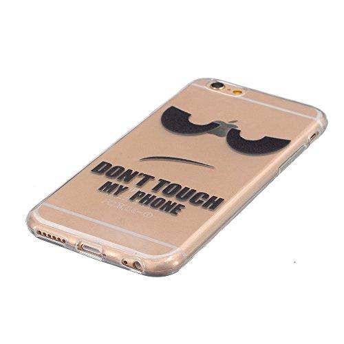 Coque iPhone 6 Plus,Coque iPhone 6S Plus, LuckyW Housse Etui TPU Silicone Clear Clair Transparente Gel Slim Case pour Apple iPhone 6 plus/6s plus(5,5 pouces) Soft de Protection Cas Bumper Cover Conver Don't Touch My Phone