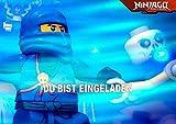 Lego Ninjago Einladungskarten 12er Set inkl. 12 Umschläge N17