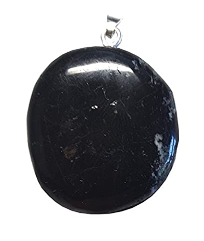 KRIO® - schwarzer Turmalin / Schörl Anhänger mit Silberöse