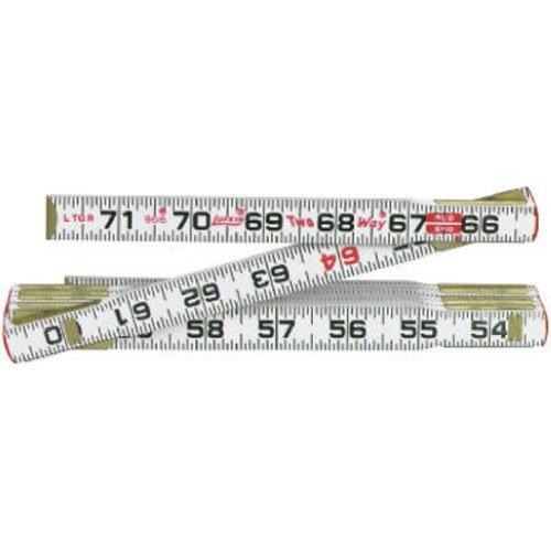 Coopertools 966 6-Inch x 5/8-Inch Wood 2-Way Fold Ruler by Lufkin