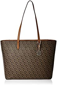 DKNY Tote Bag for Women- Monogram/Brown