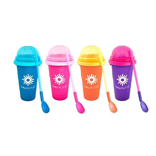 Broszio & Co 01661 MagicFreez Slushy Maker Slush Eis Becher 'Chillfactor', 240ml, mehrfarbig (Farbe zufällig, 1 Stück)