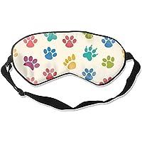 Schlafmaske, natürliche Seide, Augenbinde, super glatte Augenmaske, bunte Hunde- und Katzenpfotenabdrücke preisvergleich bei billige-tabletten.eu