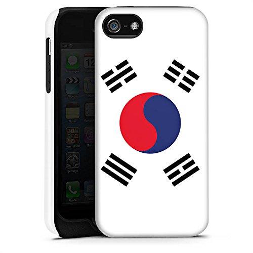 Apple iPhone 5 Housse étui coque protection Corée du sud Drapeau Corée Cas Tough terne