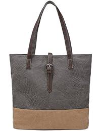 DCCN Bolso de lona Bolsos de mano para mujer Bolsos bandolera Grande bolsos de hombro Para uso diario shopper Hobo estilo Carteras compras tote
