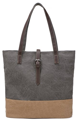DCCN Damen Shopper Bag Segeltuchtasche Groß Canvas Bag