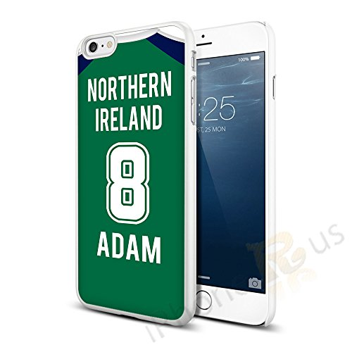 Nordirland Home Farben personalisierbar Football Shirt, jeder Name, beliebige Snap On Hard Back Case Cover für Apple iPhone 66S von iPhone R Us® (Home Flag Kit)