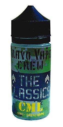 Preisvergleich Produktbild 100ml E-liquid CML BRAVO VAPES THE CLASSICS für E Zigaretten ohne Nikotin - Hergestellt in Italien