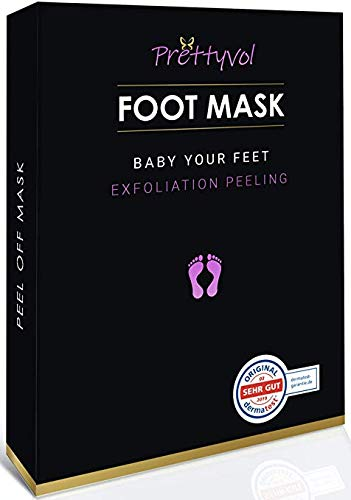 Fußmaske Fuß Peeling Maske | Entfernung von Hornhaut nach nur einer Anwendun, 2 Paar Fuß |Dermatologisch getestet| Socken Samtweiche und zarte Füße Innerhalb von 5-12 Tagen