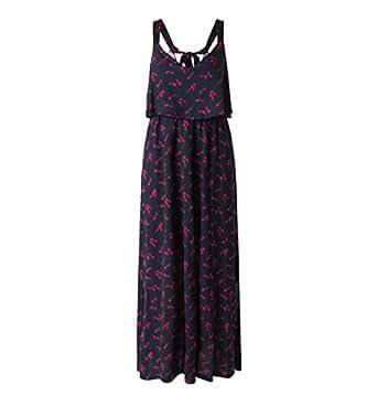 Kleid mit volant stufen lang