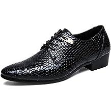 Zapatos de Vestir para Hombre Zapatos de Punto clásicos con Punta de Dedo del pie para