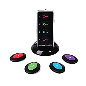 Xcellent Global Localizzatore Wireless di chiavi con base di supporto e LED s-hg053