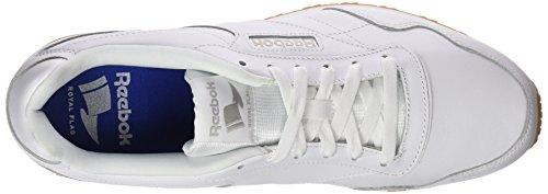 Reebok Royal Glide LX, Scarpe da Ginnastica Basse Uomo Bianco (White/steel/gum)