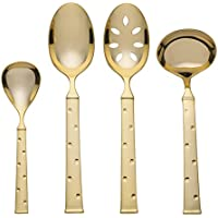 kate spade new york Larabee Dot Gold 4-Piece Hostess Set
